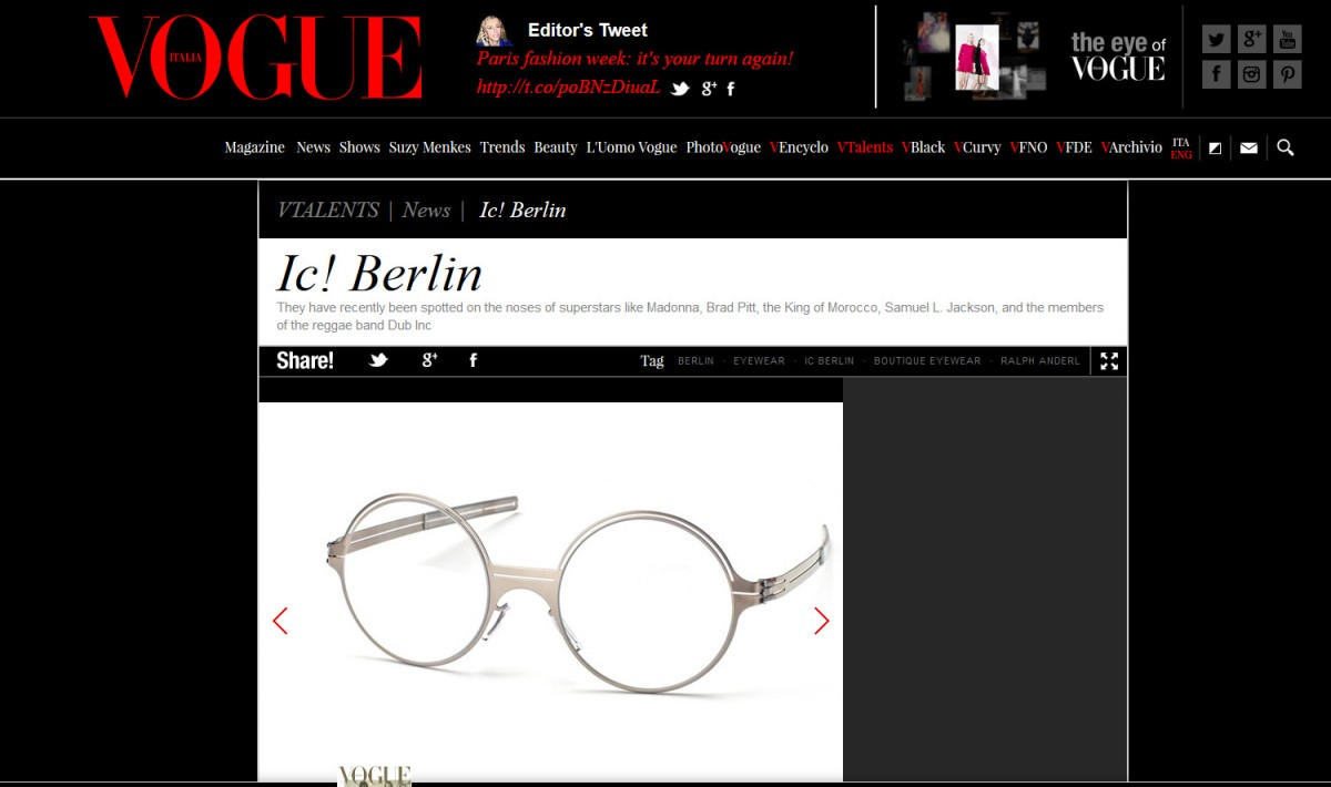 Italian Vogue features model Achille